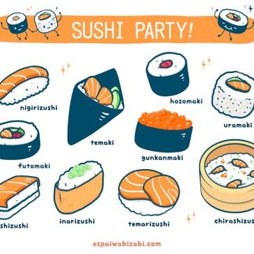 ¡Sushi party!, descubriendo los diferentes tipos de sushi